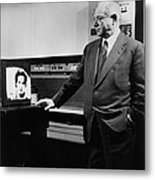 David Sarnoff 1891-1971, Watching Metal Print by Everett