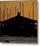 Davis Islands Yacht Club At Sunset Metal Print