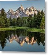 Dawn At Schwabacher Landing Metal Print