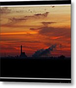 Dawn At The Power Plant Metal Print