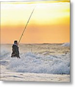 Dawn Fishing Metal Print