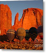 Dawn Flight In Monument Valley Metal Print