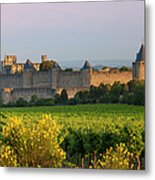 Dawn In Carcassonne Metal Print