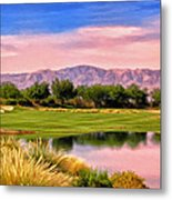Dawn On The Golf Course Metal Print