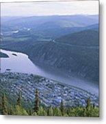 Dawson City And The Yukon River Metal Print