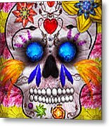 Day Of The Dead - Death Mask Metal Print