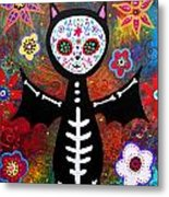 Day Of The Dead Bat Metal Print
