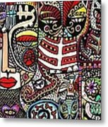 Day Of The Dead Cats Metal Print
