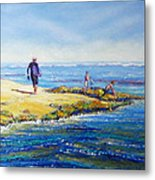 Day Out At Coloundra Beach Queensland2 Metal Print
