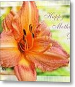 Daylily Greeting Card Mothers Day Metal Print