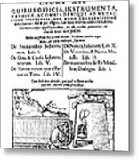 De Re Metallica, Title Page, 16th Metal Print by Science Source