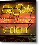 De Soto Fire Dome V Eight Neon Sign Metal Print