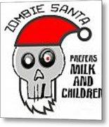 Dead Santa Eats Metal Print