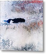 Dead Sea From Space Metal Print by NASA / Science Source