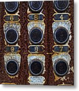Death Row Cell Buttons Metal Print