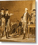 Death Warrant Of Major John Andre, 1780 Metal Print by Photo Researchers