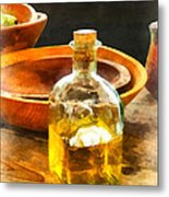 Decanter Of Oil Metal Print