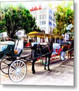 Decatur Street At Jackson Square Metal Print by Bill Cannon