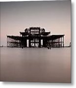 Decaying Pier Metal Print