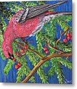 December Berries Metal Print