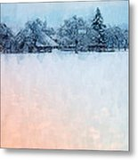 December Snow Metal Print