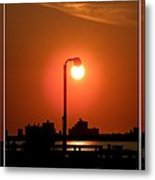 Deck Lamp Metal Print by Laurence Oliver
