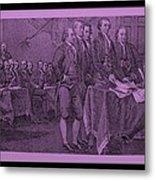 Declaration Of Independence In Pink Metal Print