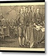 Declaration Of Independence In Sepia Metal Print