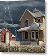 Decline Of The Small Farm Number 6 Version 2 Metal Print