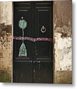 Decorated Door Metal Print