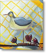 Decoy On A Stand Metal Print