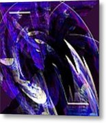 Deep Purple Abstract Metal Print