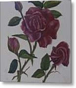 Deep Red Roses Metal Print