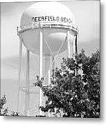 Deerfield Beach Tower In Black And White Metal Print
