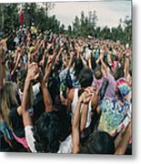 Deforestation Protest, Hawaii Metal Print by G. Brad Lewis
