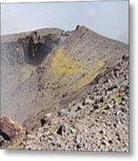 Degassing North Crater With Fumarolic Metal Print