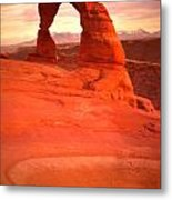 Delicate Arch At Sunset Metal Print