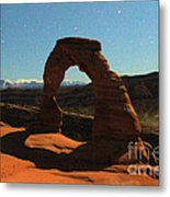 Delicate Arch Under Moonlight Metal Print