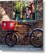 Delivery Bicycle Greenwich Village Metal Print