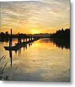 Delta Sunset Metal Print