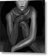 Demi Moore Black And White Metal Print