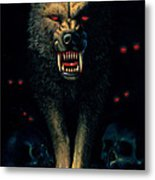 Demon Wolf Metal Print