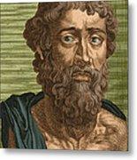 Demosthenes, Ancient Greek Orator Metal Print by Photo Researchers