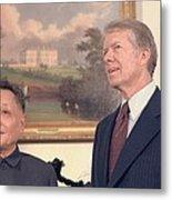 Deng Xiaoping And Jimmy Carter Metal Print by Everett
