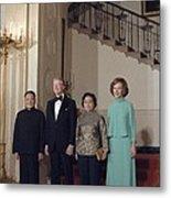 Deng Xiaoping Jimmy Carter Madame Zhuo Metal Print