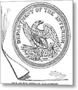 Department Of The Interior Metal Print