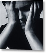 Depressed Woman Metal Print