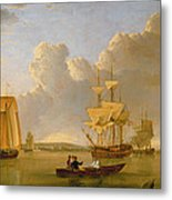 Deptford On Thames With A Distant View Of Greenwich Metal Print by John of Hull Ward