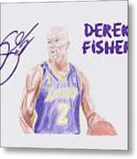 Derek Fisher Metal Print by Toni Jaso