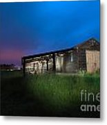 Derelict Barn At Night Metal Print